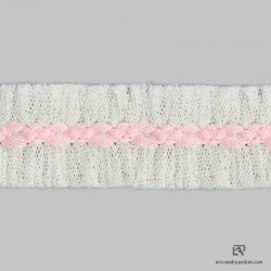 495BIC - Braided accessory of tulle