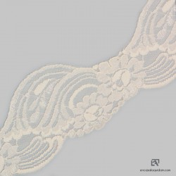758-3S Polyamide scalloped lace